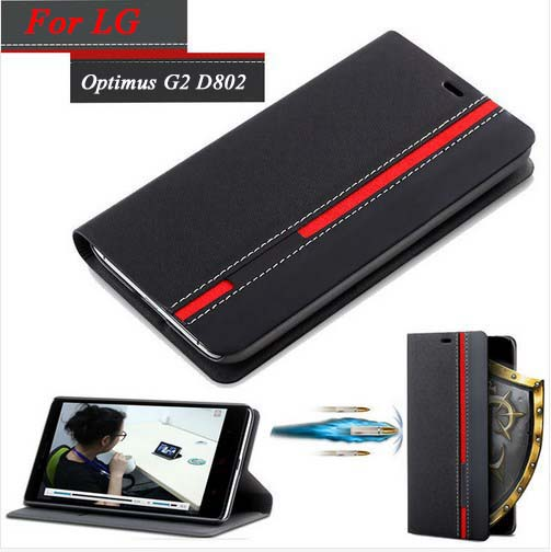 For LG G2 Cases Luxury PU Leather Wallet Phone Bag For LG Optimus G2 D802 D805 D801 Cover With Stand Card Holder Vintage Style(China (Mainland))