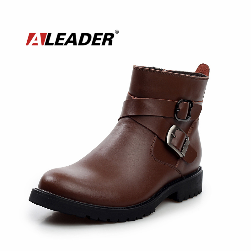 aliexpress buy bukle winter leather boots 2015