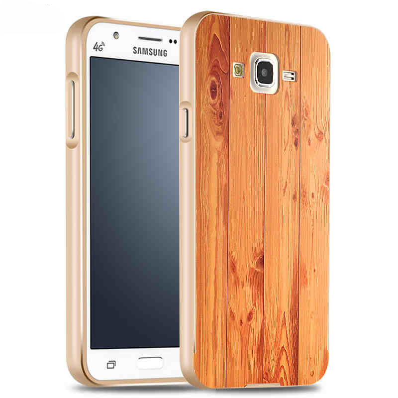 Aluminum Metal + 3D Wood Printing Back Cover Hybrid Case Samsung Galaxy J7  -  JieMeiXun Technology(HK store Co.,LTD)