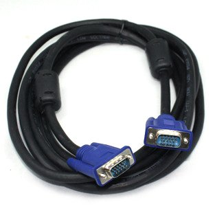 5m 15ft SVGA VGA M/M Male Monitor Video Cable HD15 pin computer cable High quality 3+6 cable+2 Ferrite