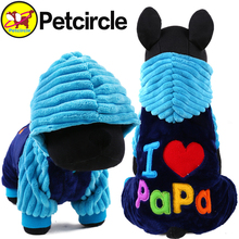 Buy 2017 Petcircle Fashion love papa mama winter Pet Dog Clothes Clothing Pet Small Large Dog Coat Winter Clothes Jackets for $5.50 in AliExpress store