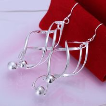 Buy silver plated earrings fashion jewelry earrings beautiful earrings high Gloss Ball Earrings vi kt for $1.44 in AliExpress store