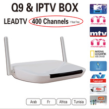 2016 Android Tv Box Q9 Android4.4 Wifi + 1 Year Iptv Subscription Leadtv Iptv Account With 400 French Arabic Channels