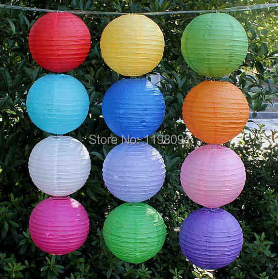 "20pcs 8""/20cm Colorful Chinese Lantern Lamp Festival Wedding Celebration Party Doecorative Round Paper Lanterns Free Shipping(China (Mainland))"