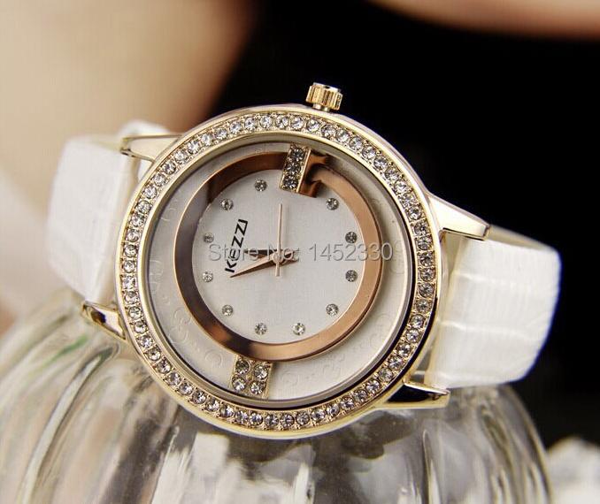 KEZZI Brand Leather Strap Watches Women Dress Watch Relogio Ladies Wristwatches/Clocks Designer Gift Quartz /Reloj S1-127 - To love oneself store