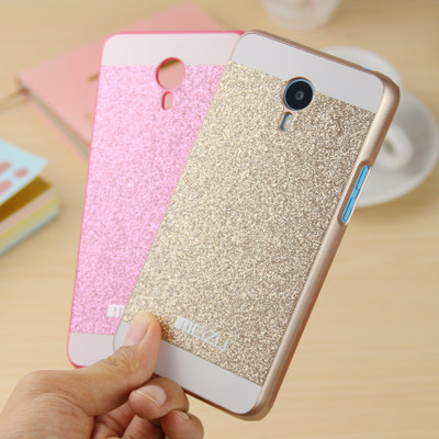 For Meizu MX4 Luxury Sparkling Glitter Bling Hard Plastic PC Cell Phone Case Cover(China (Mainland))