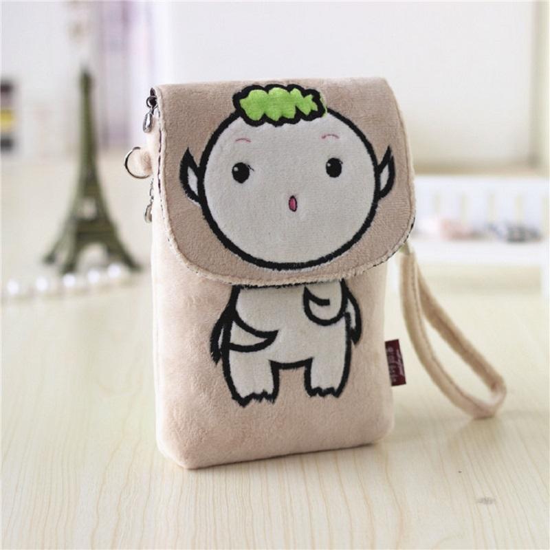Plush cartoon hello kitty pokonyan women's handbags mini messenger crossbody bags female purse small pouch carteira for girls(China (Mainland))