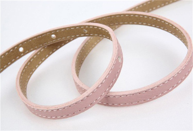 sweet woman bow lovely wild leather thin belt Female All-match Strap Decoration Leather Belts Waist  white Red Wholesale