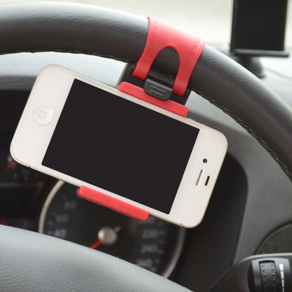 High Quality Universa Car Steering Wheel Bike Clip Mount Holder Car Phone Holder For cell phone/ iphone /Samsung /GPS Selfie(China (Mainland))