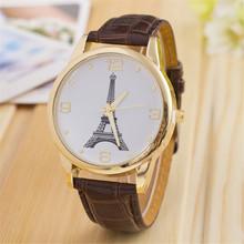 New relogio masculino women quartz watch high quality women s jewelry digital Wristwatch Tower leather watch
