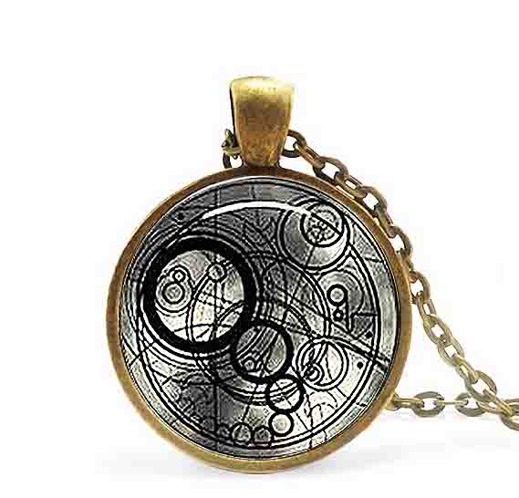 New Steampunk UK drama doctor dr who black line time lord Necklace 1pcs/lot bronze / silver Glass Pendant jewelry chain iron man(China (Mainland))