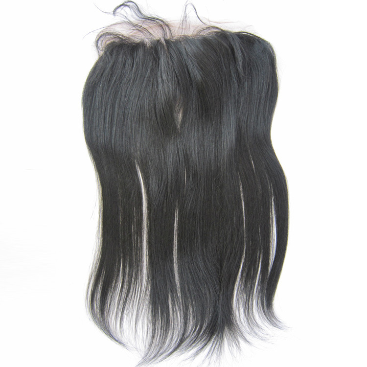 13x4 Virgin Lace Frontal with Baby Hair Straight Brazilian Remy Virgin Human Hair 1# Jet Black 120% Density Swiss Lace 10 to20<br><br>Aliexpress