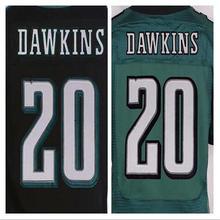 Top quality jersey cheap #20 Brian Dawkins Jersey black green Elite Men's Stitched Jerseys,size M-XXXL(China (Mainland))
