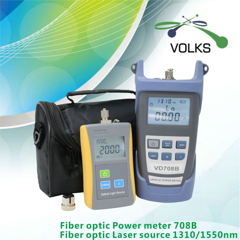 2 in 1 fiber optic laser source and optic power meter VD708B -50~+26dBm with Bag free shipping(China (Mainland))