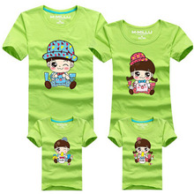 New Family Matching Outfits T-shirt 11 Colors Clothes For 2016 Summer Family Clothes Women Men Children T-shirt Tops