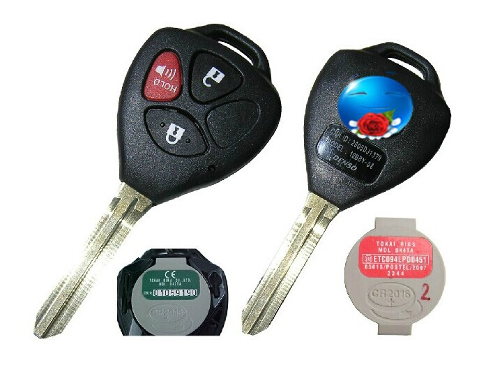 BRAND NEW Remote Key 3 Button 433MHz For Toyota 2005 2008 Hilux With 4D67 Chip MDL