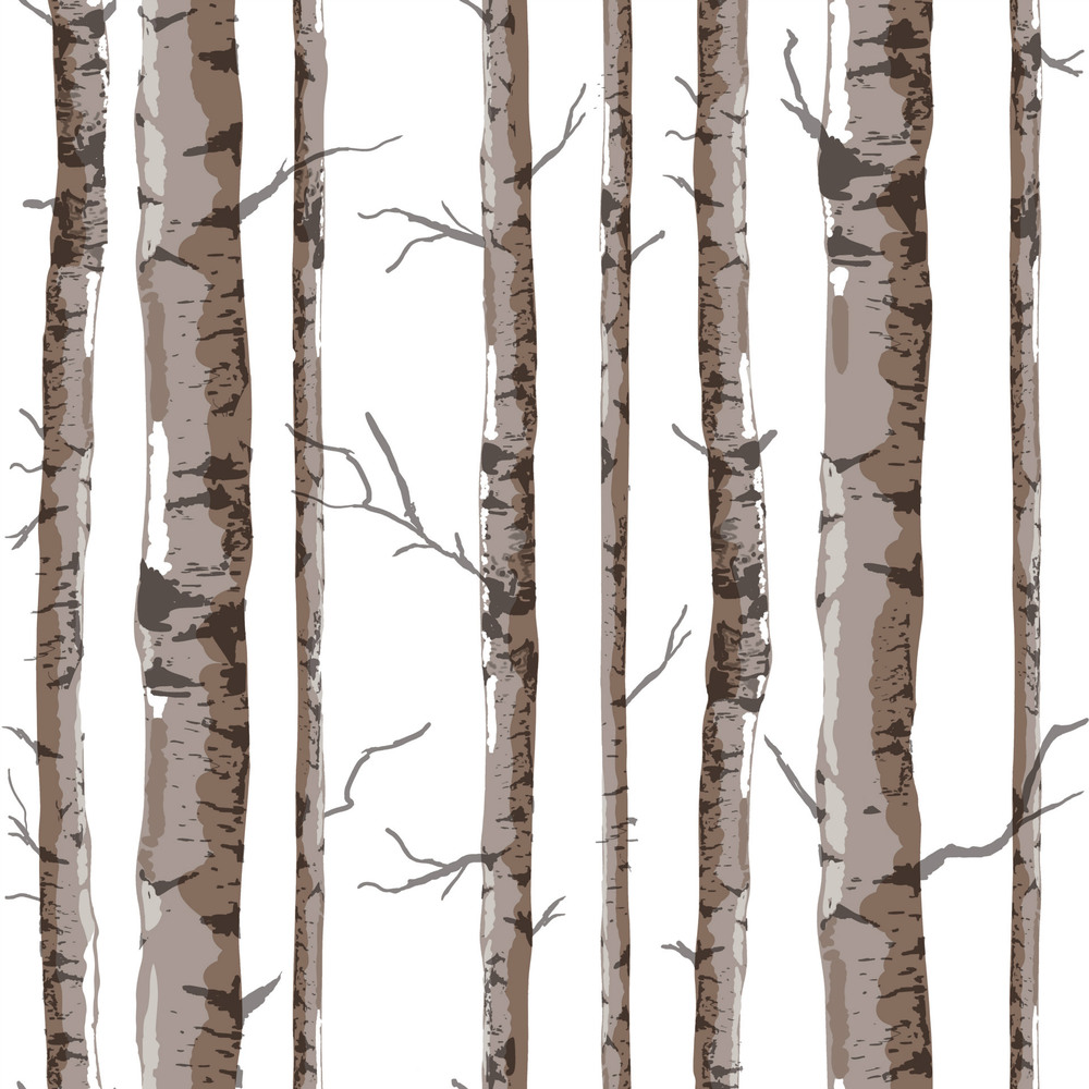 Birch tree wallpaper interior inspirational for Tree wallpaper for walls