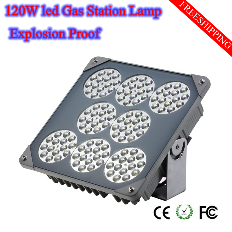 High Quality Explosion Proof Led gas station Lamp 120W AC85-265V IP68 Outdoor Lights Tunnel Lights Cree Chip Fedex Free shipping(China (Mainland))