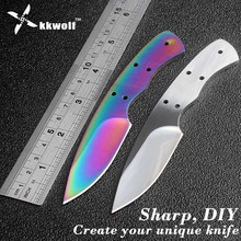 Buy KKWOLF diy Fixed blade Knife Blanks 440c stainless steel DIY blades edc White pocket survival Hunting knife Multicolour knife for $6.43 in AliExpress store