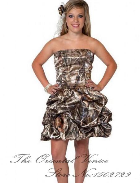 Cheap short camo wedding dresses bridesmaid dresses for Camo wedding dress prices