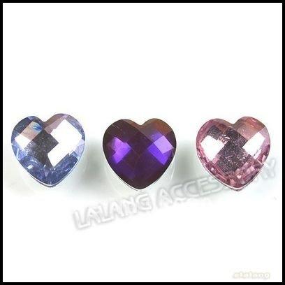 900pcs/lot Wholesale Mixed Colorful Heart Faceted Stick-on Flatback Rhinestones Embellishments 10mm 24800