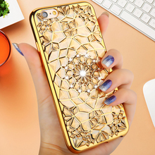 Cell Phone cases Accessories Diamond Skin covers iphone 6 6s plus electroplating soft back cover - Xi Sheng Technology Co., Ltd store