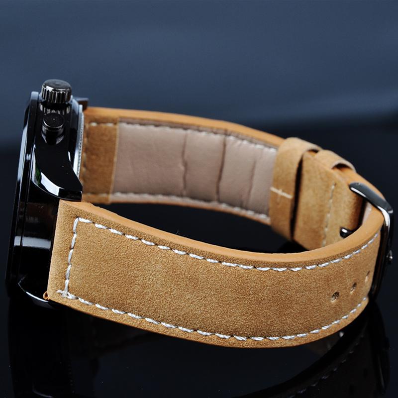 Quartz Watch 2015 PU Leather Strap Military Racing Men Watch Sports Watches Men PMPJ762 50