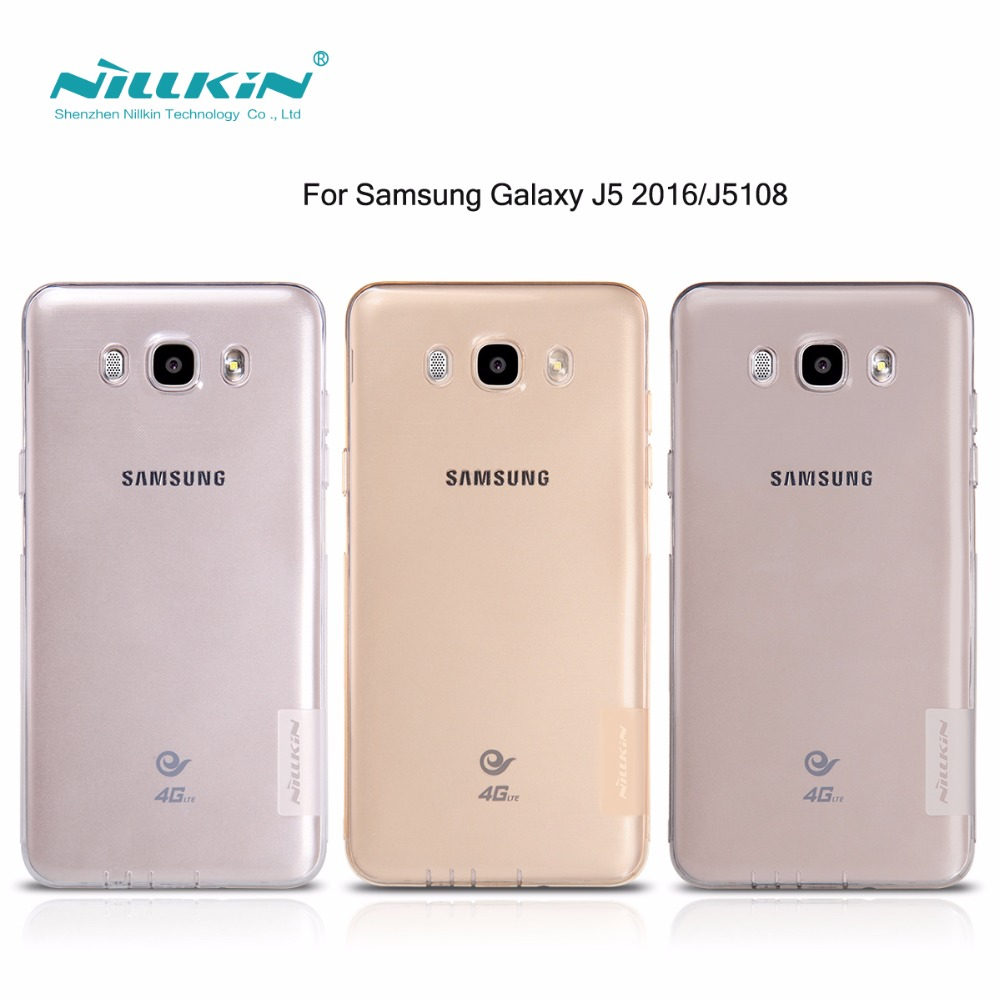 Nillkin nature Transparent Clear Soft silicon TPU Protector case cover for samsung j5 2016 5.2'' for samsung galaxy j7 2016 5.5'