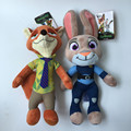 2016 New Plush Toy Zootopia 25cm Soft Rabbit Judy Fox Nick Stuffed Animals Doll For Kis