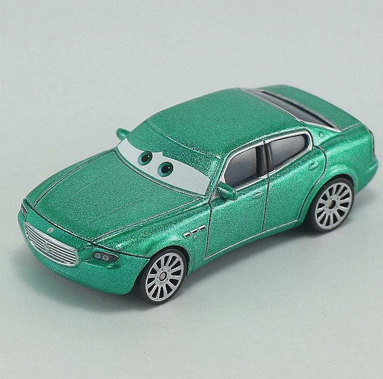 Pixar Cars Diecast Metal Car Toy For Kids 1:55 Maserati Loose Green Brand New In Stock Lightning McQueen(China (Mainland))