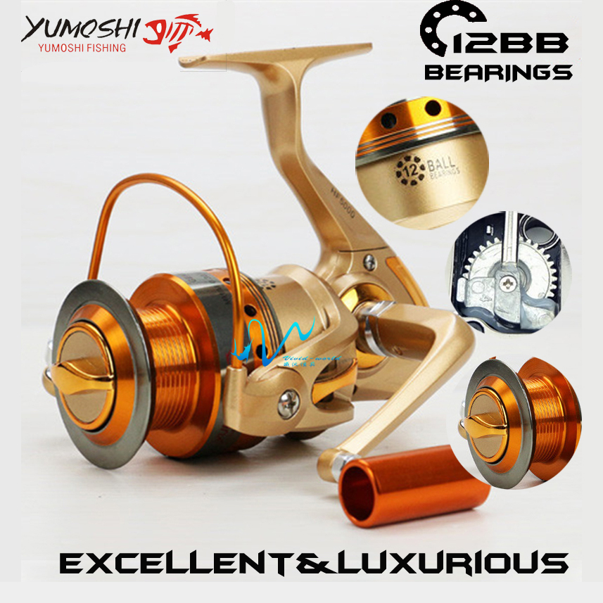 Brand High quality Fishing reel 12 Bearing Balls 5.5:1 lightweight Super strength spinning fishing reel Perfect for Rod Combo(China (Mainland))