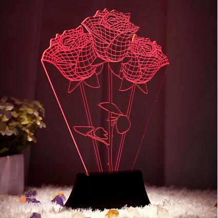 0.5W 3D Lamp Lighting Colors Changable lights LED Table Lamps For Bedroom mesa Modern Acrylic Table Lamps(China (Mainland))
