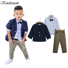 2016 Formal Suits for Boys European & American Style Kid's Clothing Sets for Wedding Blazer + Shirt + Pants Spring Wear, HC651