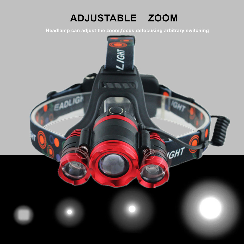 LED Headlamp Headlight USB IR Motion Sensor Head Lamp Light CREE XML T6 High Power 10000Lumens 18650 Lampe For Fishing Hunting
