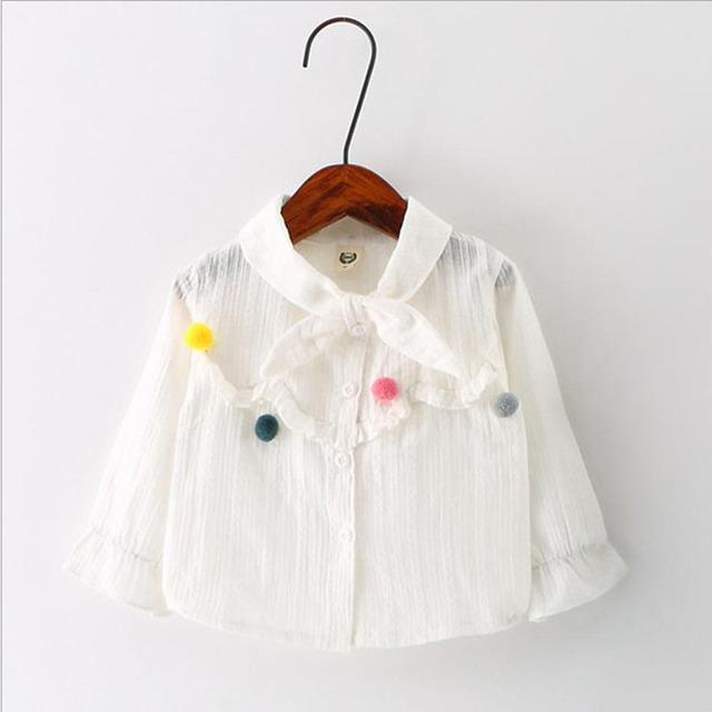 Весна 2017 Новый Детская Одежда Девочка Белый Рисунок Длинный рукава Экипаж Шеи Пальто Для Девочки Осень Детей Clothing Girl куртки