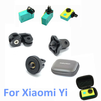 Small Waterproof Storage Camera Case Bag 1 4 Connecter Mini Tripod Adapter Mount for Gopro Hero