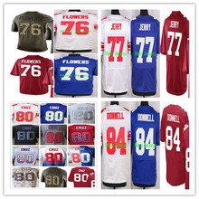NAME+NUMBER+COLOR: 2016 Ereck Flowers,John Jerry,Victor Cruz,Larry Donnell men women youth Jerseys Blue White Red M-4XL(China (Mainland))