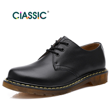 New Style Genuine Leather Men Boots Dr.Martin Boots Men&Women Brand Motorcycle Boots Vintage Style Shoes Woman