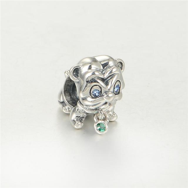 S925 стерлингового серебра Jewerly маленький тигр бусины DIY стерлингов - серебристо-ювелирные подходит пандора Chamilia подвески браслеты