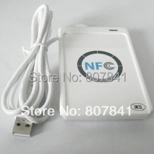 Free shipping USB ACR122U NFC RFID Smart Card Reader Writer + 5pcs NFC Tags Stickers Cards +1 SDK
