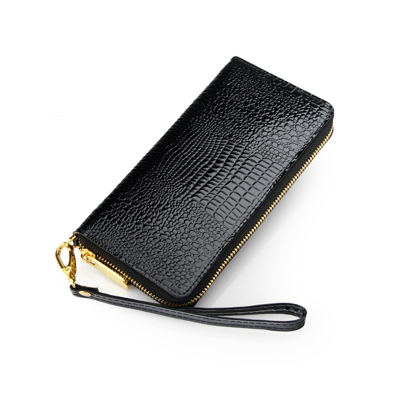 Гаджет  2015 New brand design fashion black genuine leather women wallets long casual card holder purse lady red clutch wallet carteira None Камера и Сумки