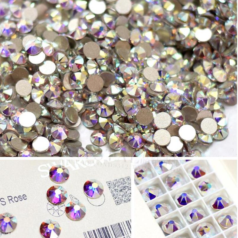 AAAAA SS3 1440pcs/bag Flat Back Nail Art crystal ab Glue On Non Hotfix rhinestones for nails diy nail accessori decorations(China (Mainland))