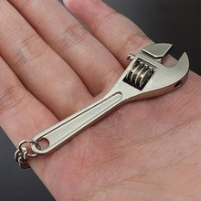 2PCS Creative Tool Wrench Spanner Model Keychain Key Ring Metal Adjustable Gift Free Shipping