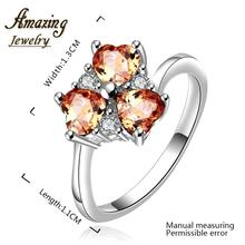 Brand new Jewelry silver Plated vintage big crystal sapphire CZ diamond ruby heart lord of the