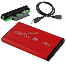 EL5018 USB 2.0 HDD HARD DRIVE DISK RED ENCLOSURE EXTERNAL 2.5 INCH SATA HDD CASE BOX