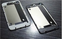 High Quality Compatible Back Glass Rear Door Battery Replace Cover For iPhone 4 4G White/Black With Logo BSJHG002