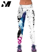 Fitness Women Sports Leggings Digital Printing Knitted Jeggings Workout Pants Sexy Gym Clothes Leggins Adventure Time