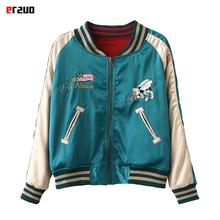 2016 new Yokosuka Vintage reversible embroidery baseball uniform shirt lovers vintage thin spring and autumn outerwear jacket