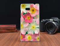 Hot Print Beautiful Rose Flower Hard Plastic Cover Fashion Painted Case For HTC Desire 600 Dual SIM 606W Phone Bag Shell Cases