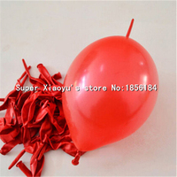 Latex 50PcsLot Red Baloes Metallic Color Tail Balloon 1.3g 6'' Globos Wedding Ballons